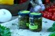 Olive verdi schiacciate